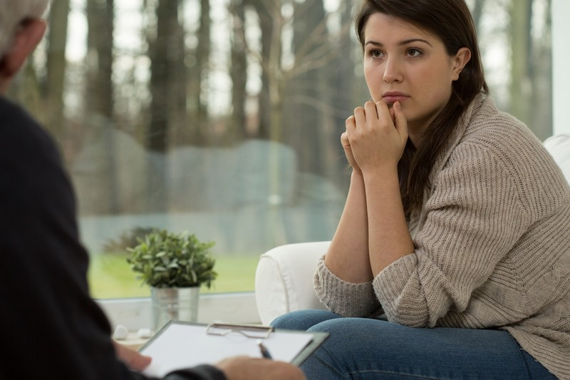 Woman receiving counseling