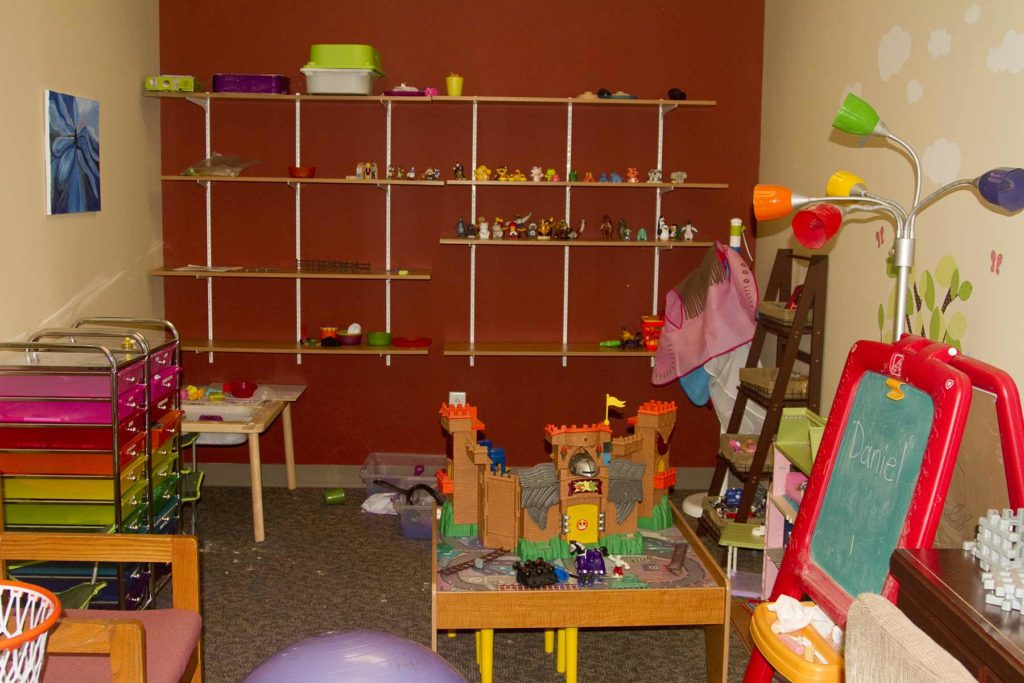 Bradley IL play therapy room for children